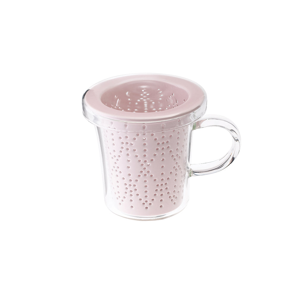 Weave Mug with Porcelain Infuser Berry