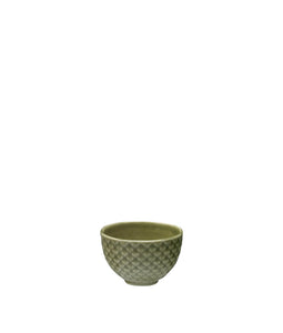 Weave 150ml Textured Bowl Olive