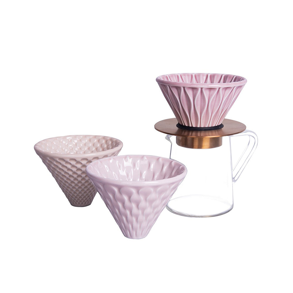 Loveramics Brewers - Set of 3 Special Edition Drippers (Pink)