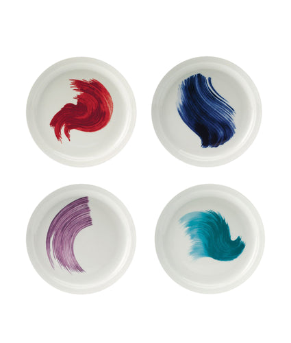 Er-go! (Cobalt) Salad Plates Swish Set of 4 x 20cm