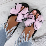 Women Wedge Slippers Casual Comfort Bownot  Flip Flop Shoes