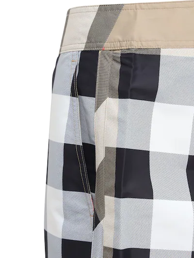 Burberry Check  Swim Shorts in Archive Beige