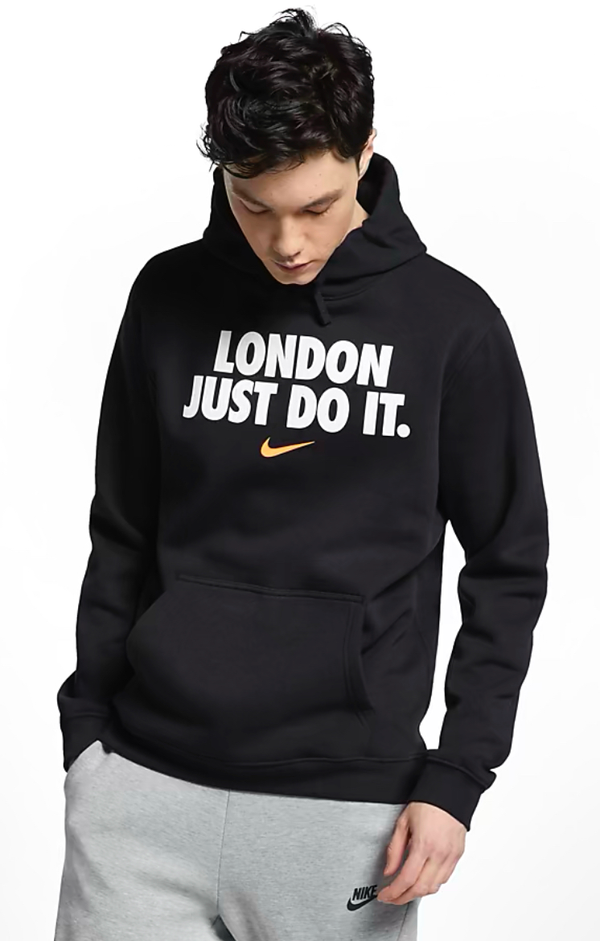 Nike London Just Do It Hoodie Black