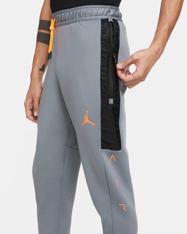Jordan Air Fleece Joggers Grey/Orange (4-6 day delivery)