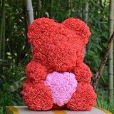 "Love Rose Teddy with  Heart - 14"" Tall"