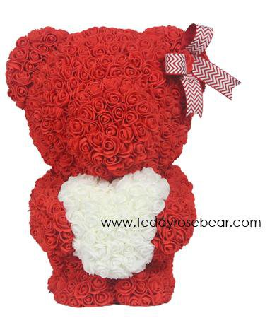 "Rose Teddy Bear Medium - 20"" Tall"