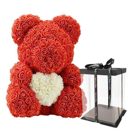 "Love Rose Teddy with  Heart - 15"" Tall"