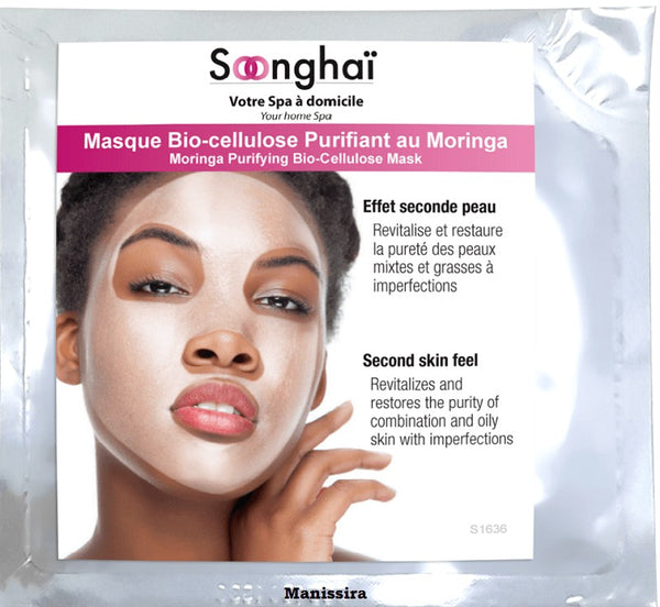 Masque Bio-cellulose Purifiant au Moringa SOONGHAI