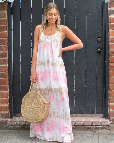 Into Style Coral Maxi Dress