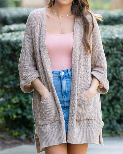 Summer Breeze Cardigan- Tan
