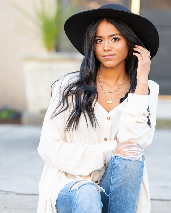 Care Free Oversized Blouse
