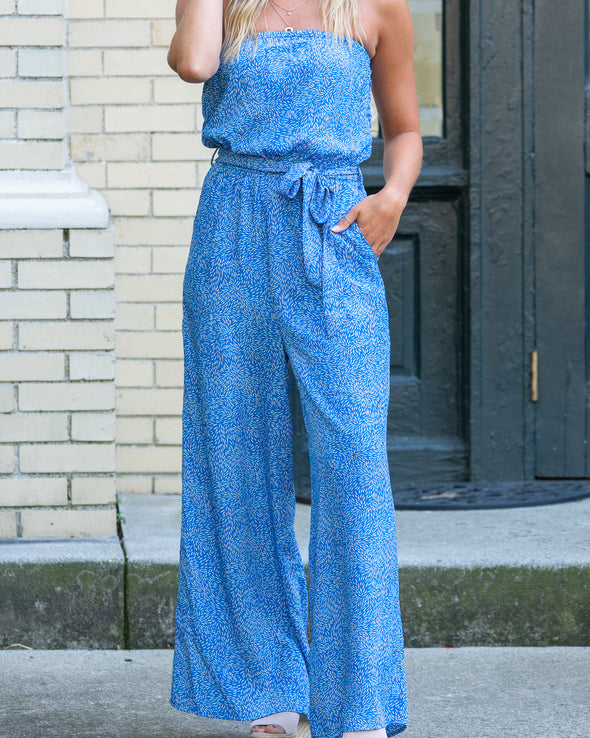 By The Sea Printed Jumpsuit
