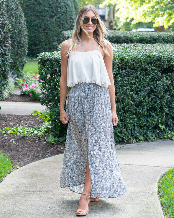 Moving Effortlessly Maxi Skirt