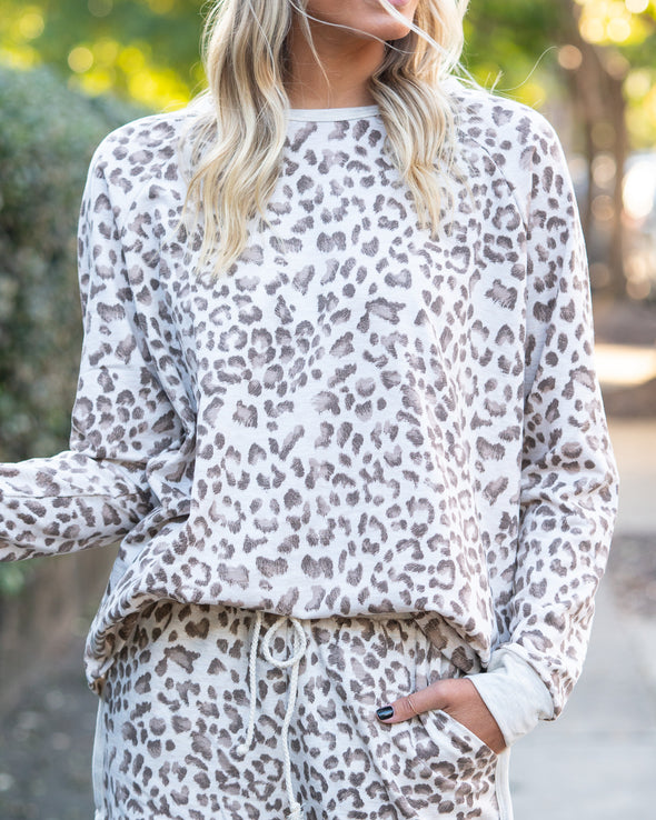 Wild One Leopard Pullover
