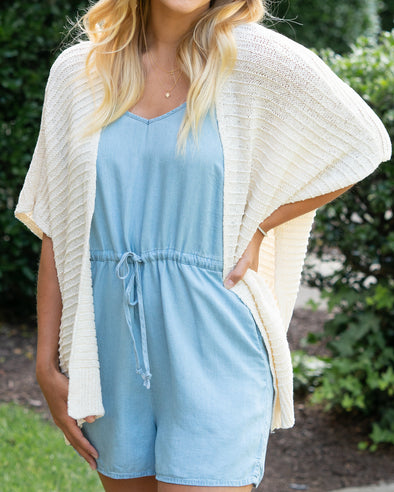 On Repeat Side Slit Cardigan
