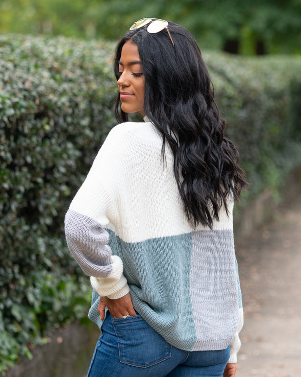 Word Around Town Color-Block Sweater