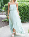 Endless Summer Ruffle Maxi- Sage