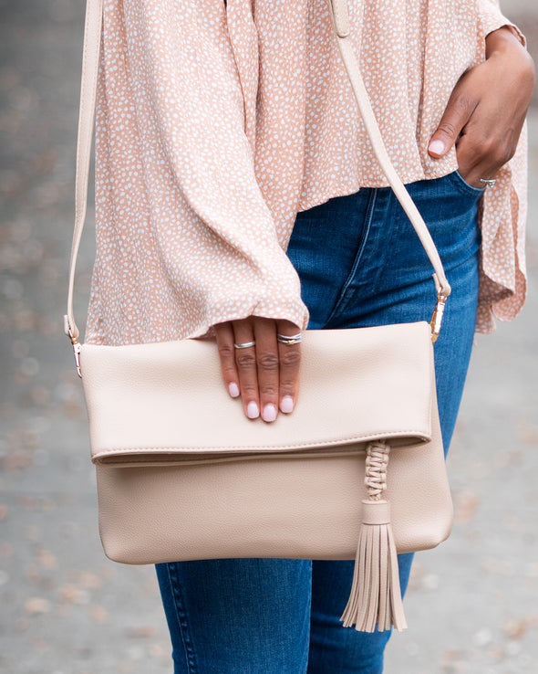 Finished Look Classic Crossbody Clutch