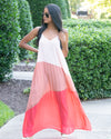 The Good Life Color Block Maxi Dress
