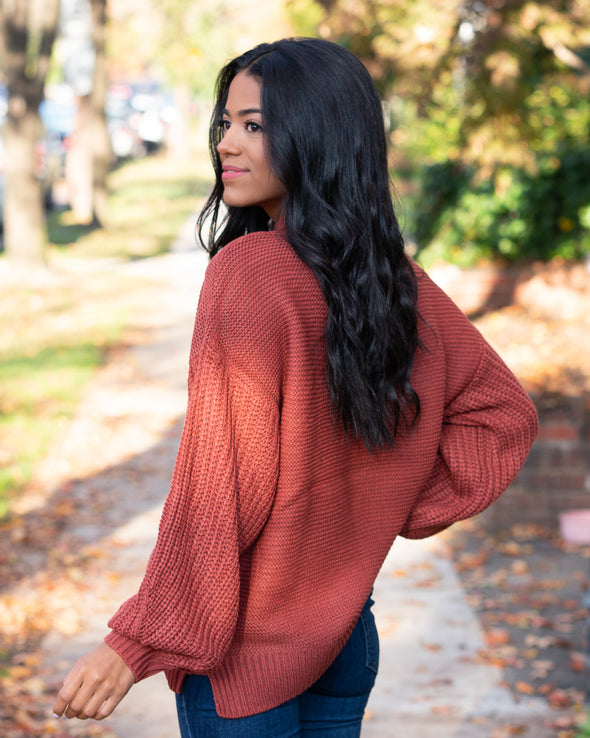 Autumn Air Rust Sweater