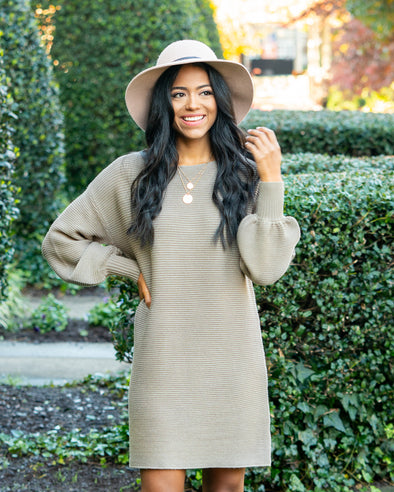 Covering The Basics Olive Sweater Dress
