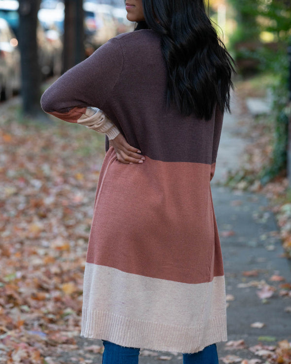 Transition Color-Block Cardigan