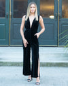 Stole My Heart Velvet Jumpsuit