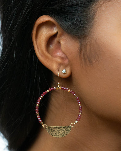 Perfect Occassion Beaded Hoop Earrings