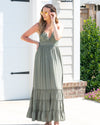 Olive You Always Lace Woven Maxi Dress