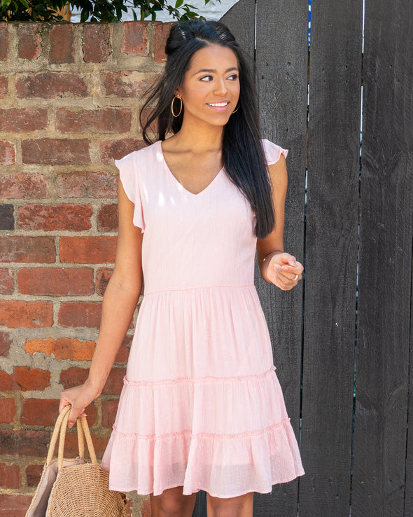 Sweet Pea Flutter Sleeve Dress