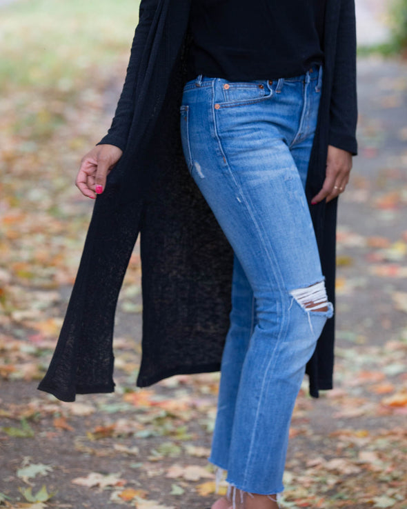 Easy Moments Black Cardigan