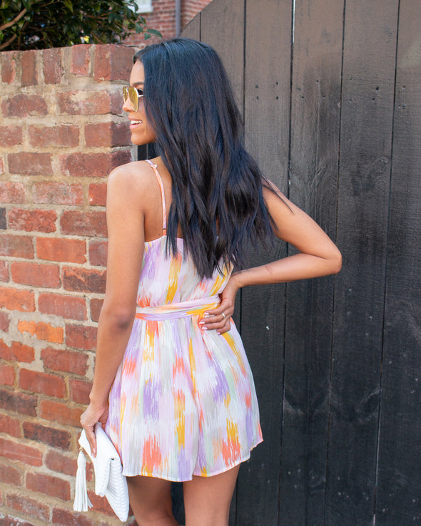 Colorful Paradise Printed Romper