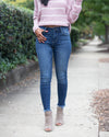 Perfect Fit Mid Rise Frayed Crop Denim