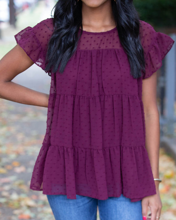 Berry Thankful Tiered Top