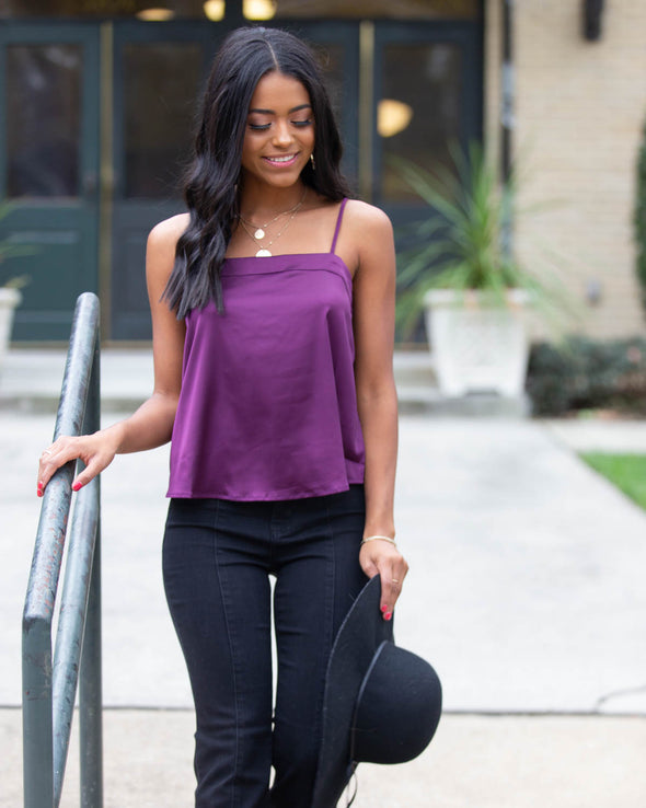 Feel Something Purple Cami