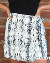 Wildly Obsessed Snake Skin Mini-Skirt