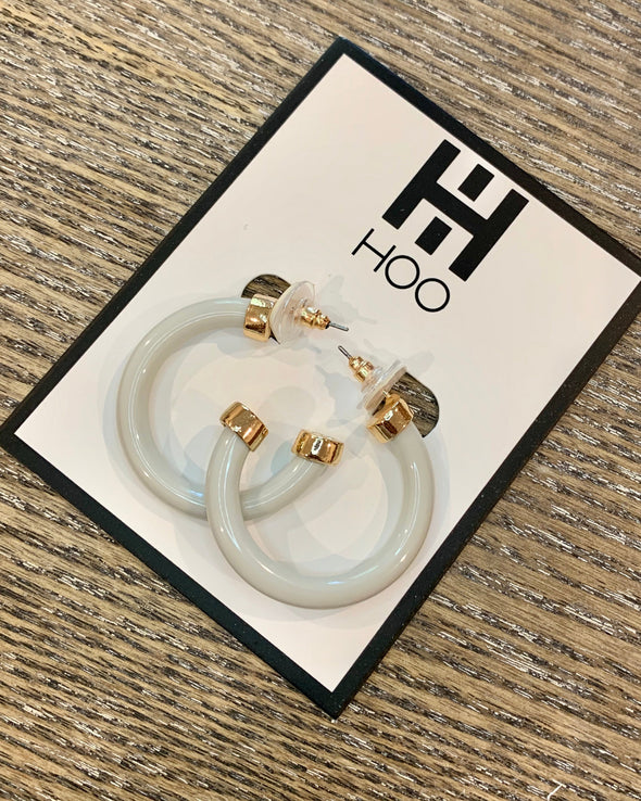 Bone White Mini Hoops