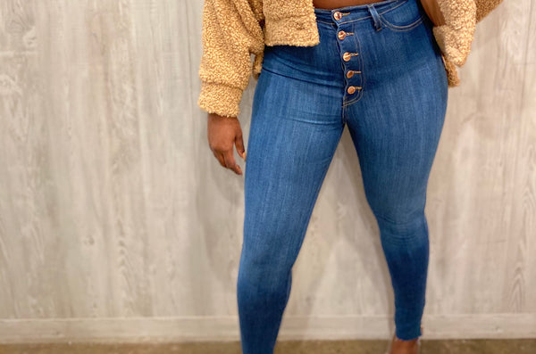 Elite High Rise Denim Jeans