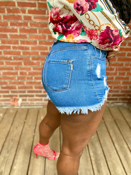 Made You Look Denim Shorts