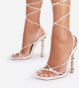 Trophy Wife White Sandals