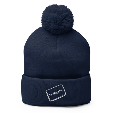 The Social Network CEO Pom-Pom Beanie