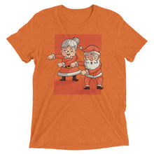 Load image into Gallery viewer, Flossing Mr. and Mrs. Santa Claus Tri-Blend Tee