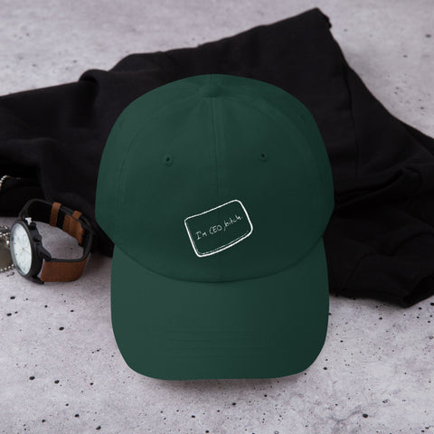 The Social Network CEO Embroidered Dad Hat