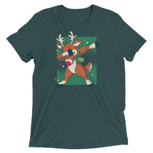 Load image into Gallery viewer, Dabbing Reindeer Tri-Blend Tee