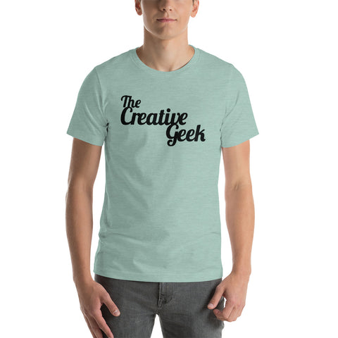 The Creative Geek Official tee! (Black Letters)