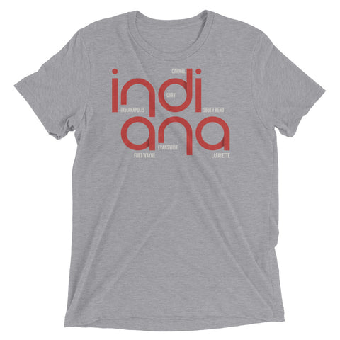 Indiana State Flow Tri-Blend Tee