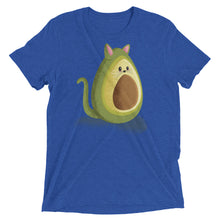 Load image into Gallery viewer, Avocado Cat Tri-Blend Tee