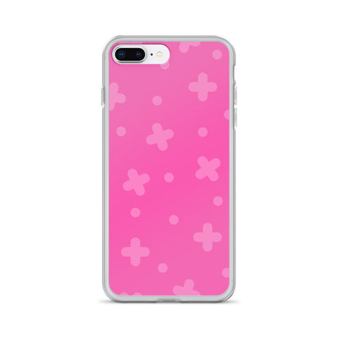 Pink Plus iPhone Case