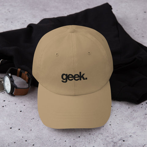 Geek Dad Hat (Black) (5 color options)
