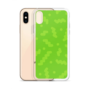 Green Squiggles iPhone Case